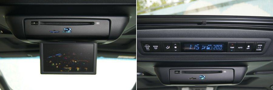 後方具備獨立空調系統,以及九吋吸頂螢幕DVD藍光播放系統,提供絕佳的影音響宴。 記者林翊民/攝影