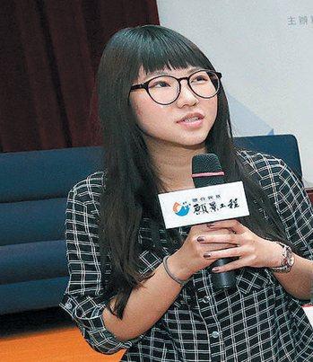 中華大學外文系學生陳伊凌。 圖/記者胡經周攝