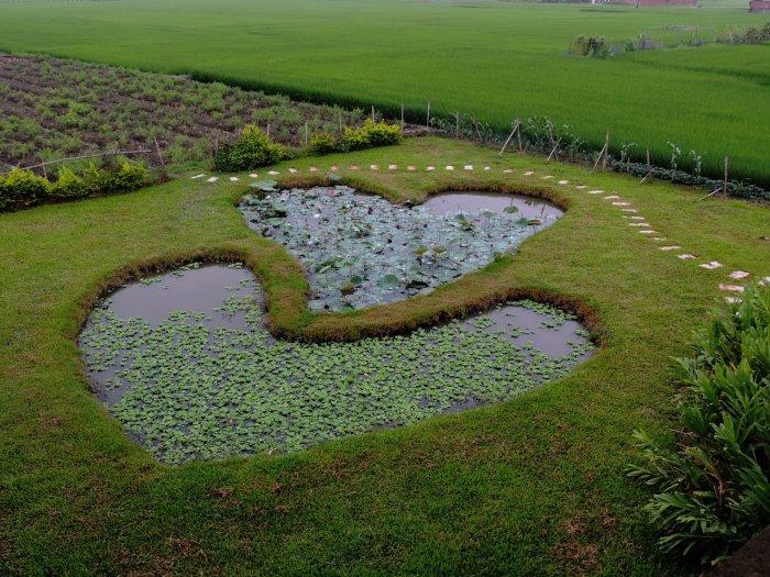 美麗的雙心池塘。(照片由郭俊銀提供)