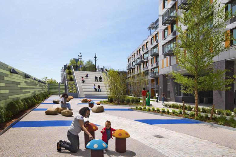 「綠色大道」是紐約出色的民間開發合宜住宅案例。  圖擷自Via Verde