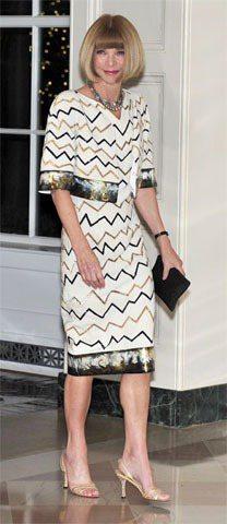 Chanel白色套裝讓安娜溫圖展露曼妙曲線,看起來更加高貴美麗。圖/達志影像提供