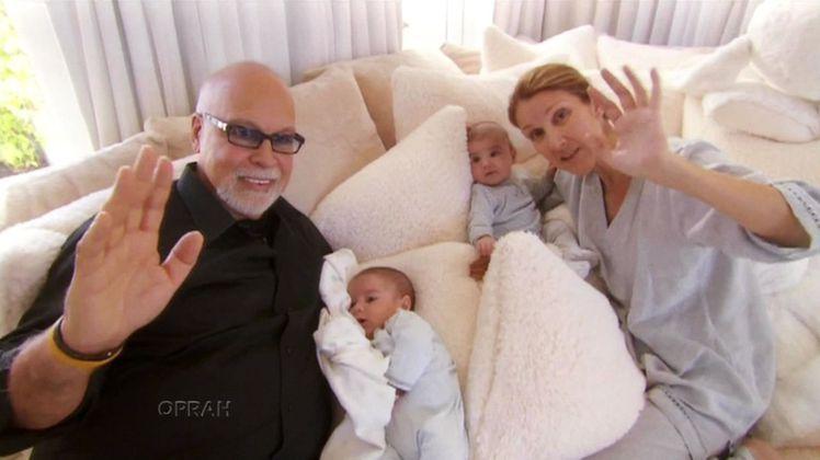 席琳狄翁和老公雷尼安傑利去年底喜獲一對雙胞胎兒子。圖/達志影像