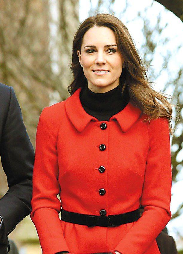 凱特的作風、儀態和無可挑剔的打扮,已讓她擁有大批粉絲。圖/法新社