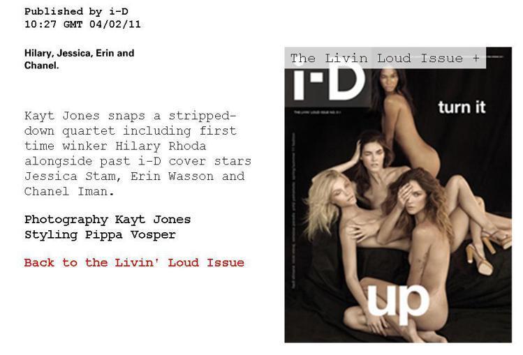 Jessica Stam在2011年早春和Erin Wasson、Chanel ...