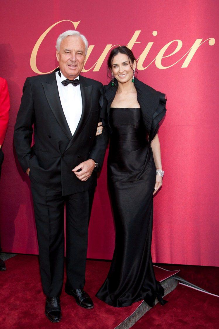 黛咪摩爾與Cartier總裁Bernard Fornas。圖/Cartier提供