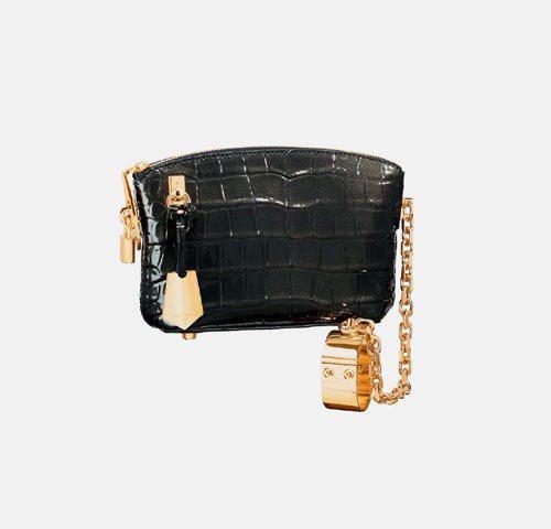 LV Lockit手提包款,附有仿若手銬般的手環,呼應戀物癖的設計理念。圖/LV...