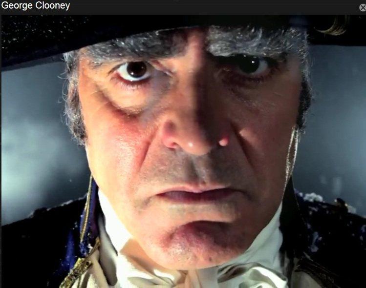 喬治庫隆尼《叛鑑喋血記》軍官角色。圖/擷取自nytimes.com