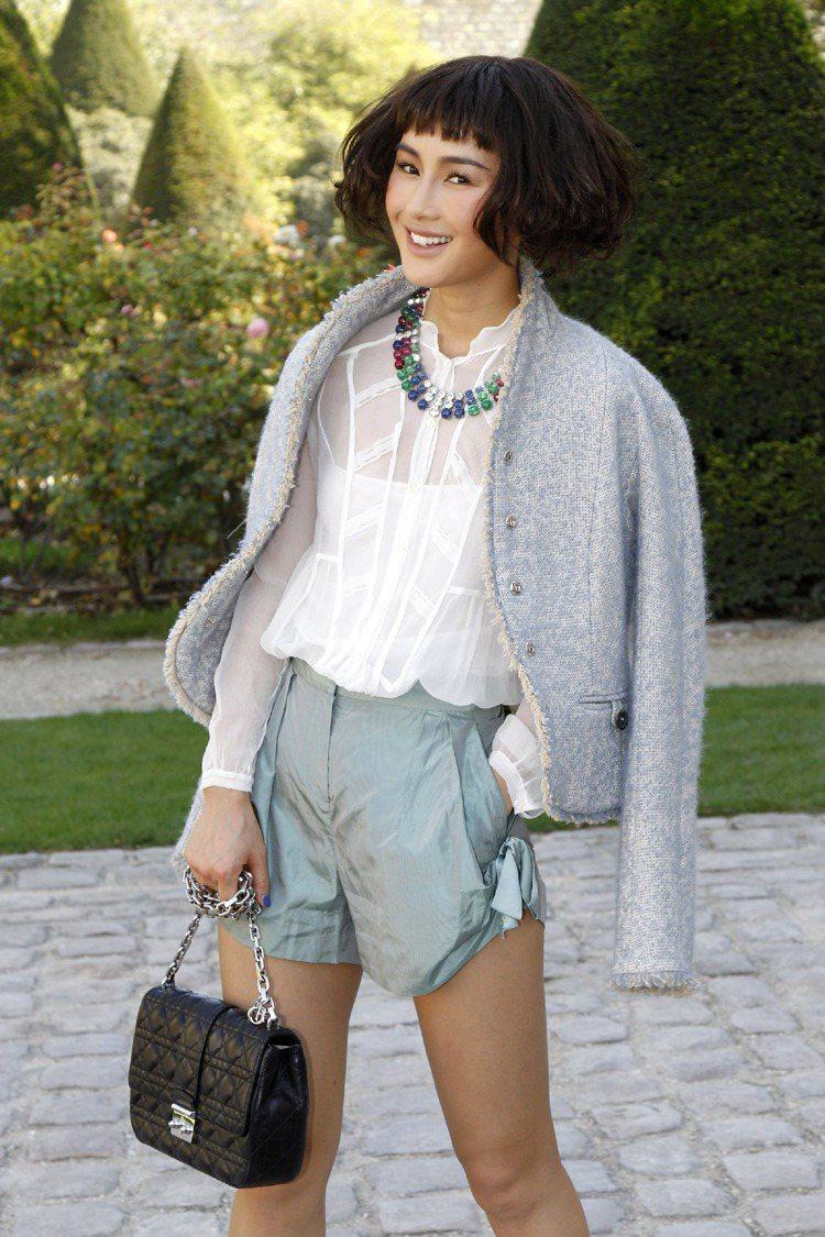 尚雯婕於 Dior 秀場。圖/she.com.tw