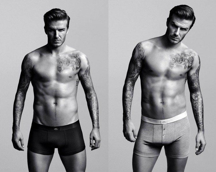貝克漢在為H&M代言的超級盃電視廣告中,露出結實好身材,未播先轟動。圖/美聯社