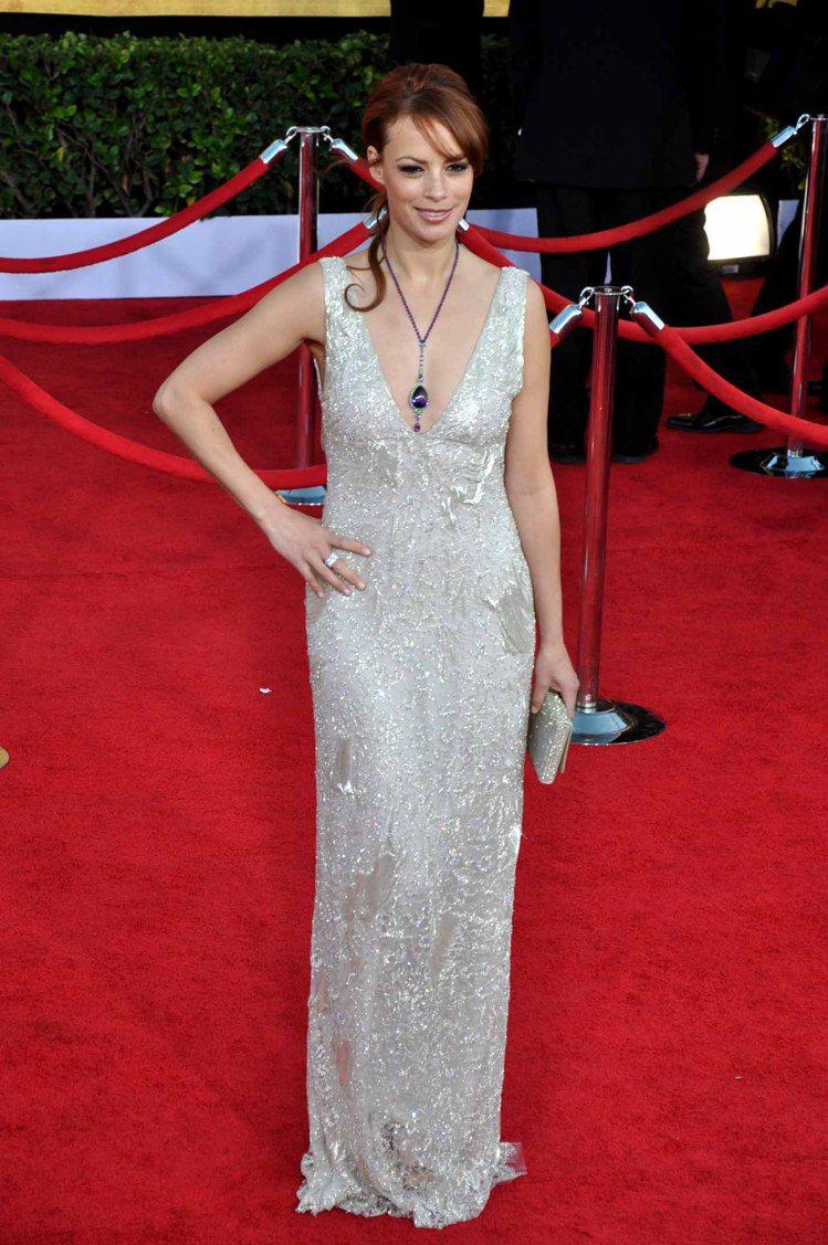 「大藝術家」女星貝芮妮絲貝喬配戴蕭邦Temptation系列。記者馬雲/攝影