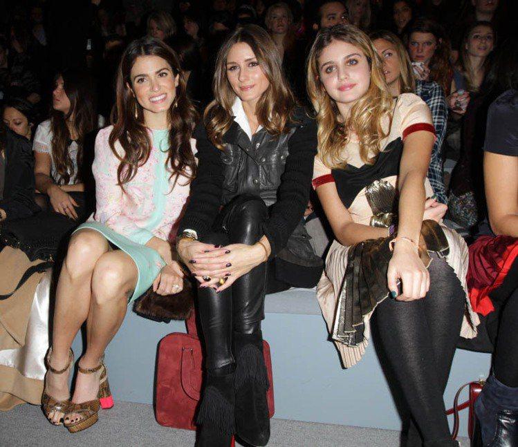 由左至右:Nikki Reed、奧莉薇亞巴勒莫和Morgan Curtis。圖/...