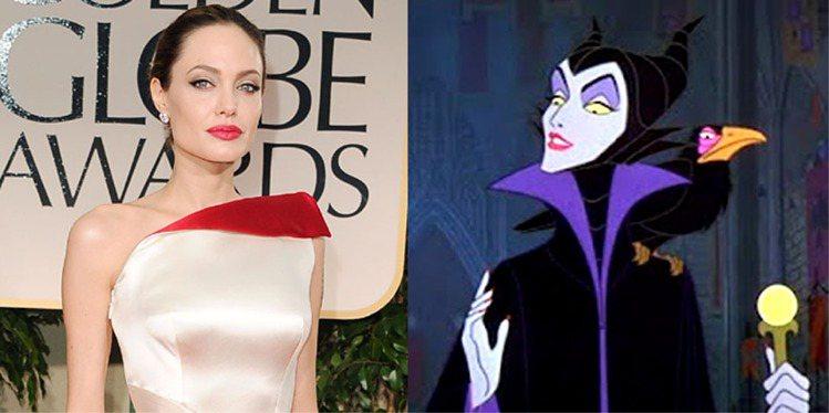 裘莉將要飾演《睡美人》中的巫婆Maleficent一角。圖/法新社、擷取自網路