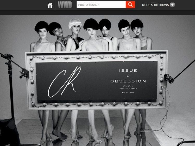CR Fashion Book拍攝的樣本內頁。圖/擷取自WWD