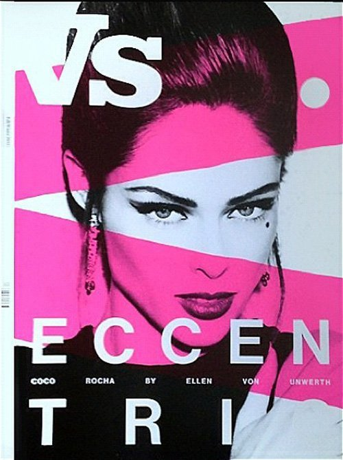 Coco Rocha登上時尚雜誌Vs. Magazine封面。圖/擷取自cele...