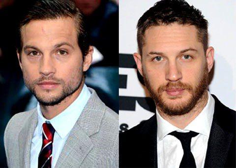(左起)馬歇爾格林、湯姆哈迪相像到連整日穿梭好萊塢的攝影師們都會認錯。圖/達志影...