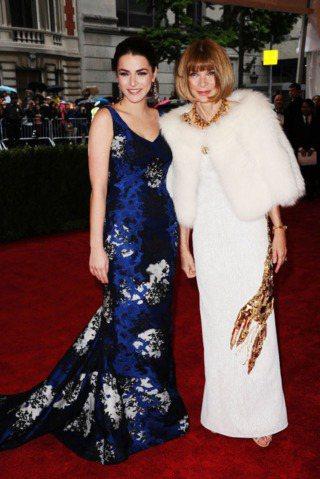 Bee Shaffer與媽媽圖安娜溫圖在紐約大都會博物館Met Gala派對。圖...