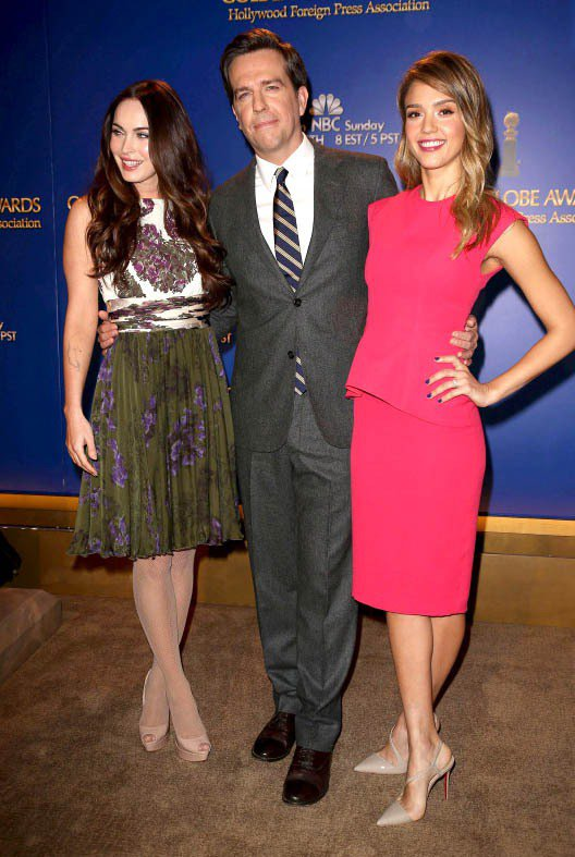 第70屆金球獎入圍宣布記者會,請到了產後積極恢復身材的梅根福克斯和甜心潔西卡艾芭...