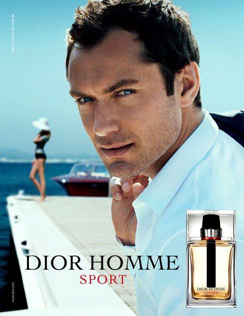 裘德洛留著鬍渣代言男香。圖/Dior提供