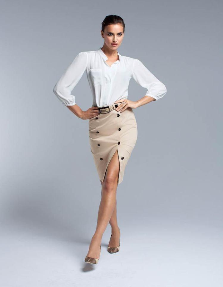 伊蓮娜為德國時裝品牌Madeleine春夏系列代言。圖/達志影像