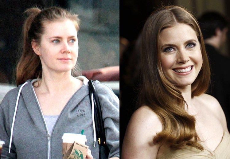 今年38歲的艾美亞當斯平常就有運動習慣,素顏的她膚質好,所以也非常有自信地把頭髮...