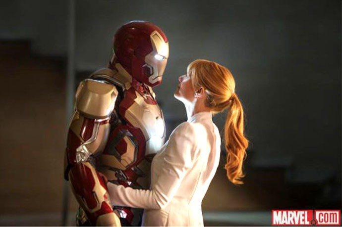 葛妮絲派特羅在《鋼鐵人3》中有更多戲分,包括穿上鋼鐵人盔甲等等。圖/驚奇漫畫公司...