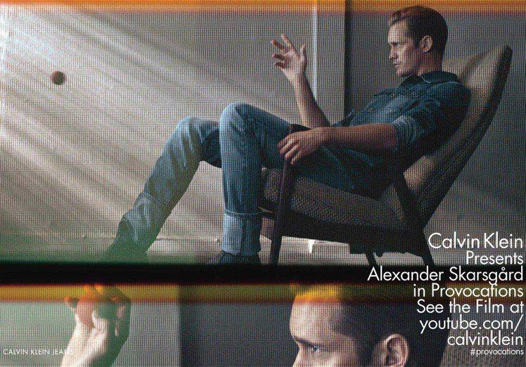 亞歷山大史卡斯加是Calvin Klein男香ENCOUNTER的代言人,以及2...