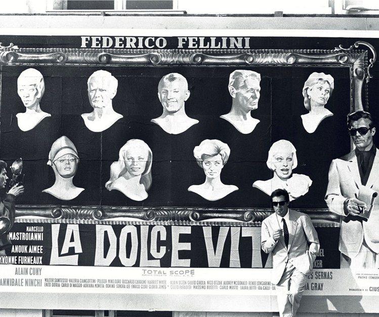 名導費里尼(Fellini)的經典電影《甜蜜生活》(La Dolce Vita)...