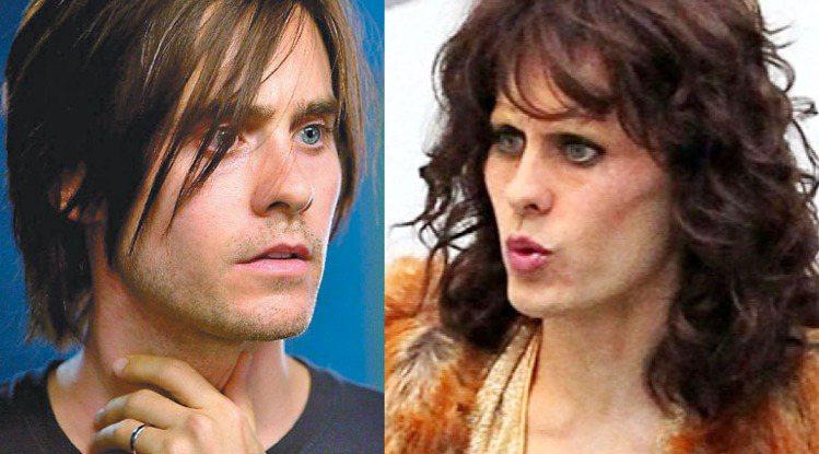 三十秒上火星主唱傑瑞德雷托也在《達拉斯買家俱樂部》中扮女裝,詭異的樣子讓人看了哭...