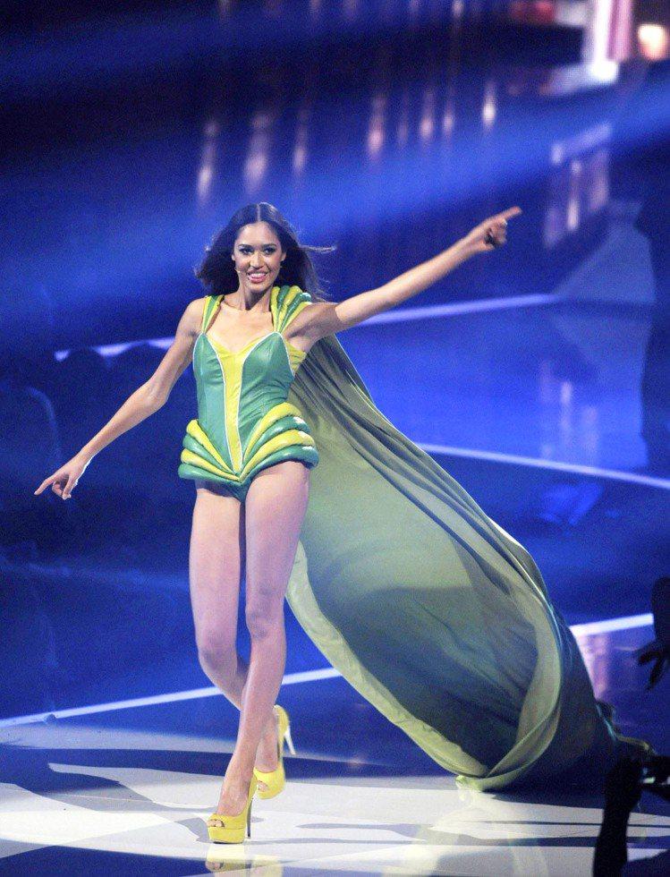 德國版超級名模生死鬥最新優勝者Lovelyn Enebechi。圖/達志影像