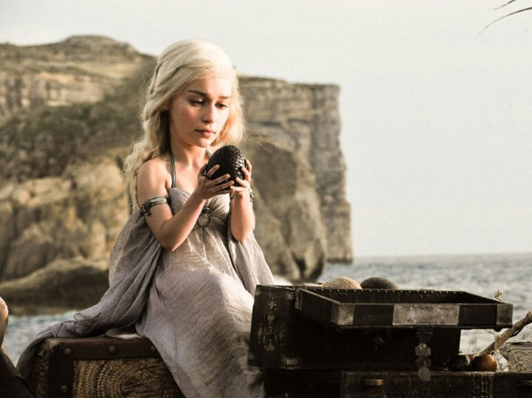 在《冰與火之歌》裡飾演龍女Daenerys的英國女演員Emilia Clarke...