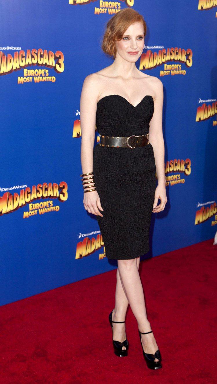 潔西卡崔斯坦時尚品味備受讚賞,曾入選「浮華世界」最會穿衣名人排行榜。圖/路透