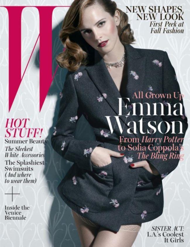 艾瑪華森登上W Magazine封面,再度挑戰與過去不同形象的復古風格。圖;文/...