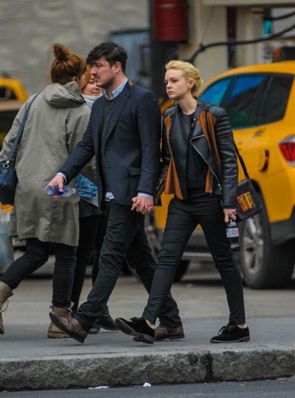 凱莉穆莉根與老公 Marcus Mumford。圖/達志影像