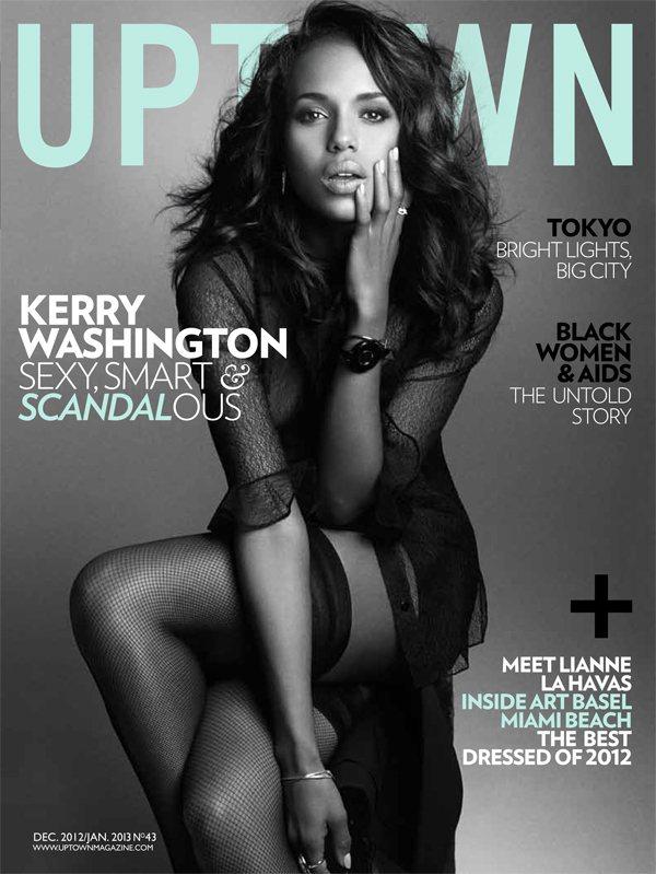 凱莉華盛頓登上uptown雜誌封面,展現性感風情。圖/達志影像