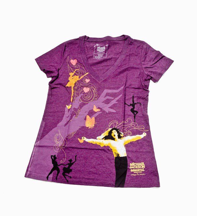麥可傑克森紀念T恤,剪影展現人體律動的純粹美感。圖/金傳媒提供