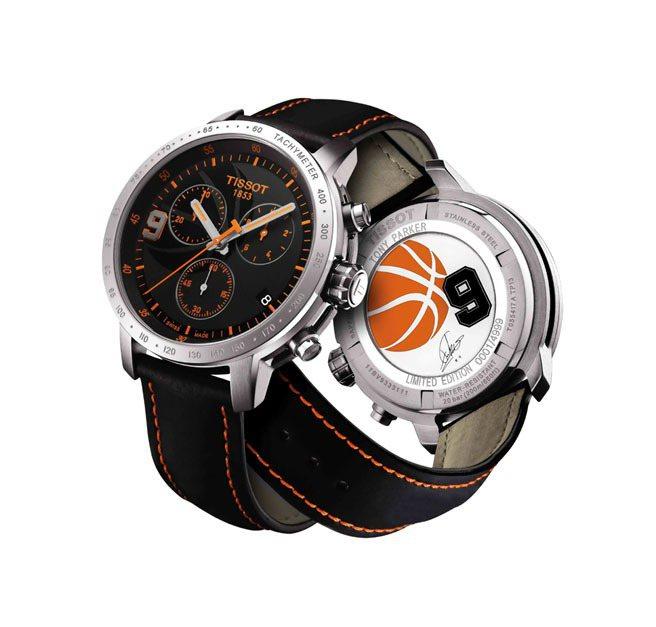 天梭PRC200 Tony Parker 2013限量腕表,石英機芯,全球限量4...