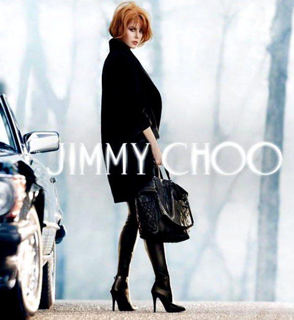 妮可基嫚為 Jimmy Choo 所代言的秋冬廣告,共四組照片展現出不同風情。圖...
