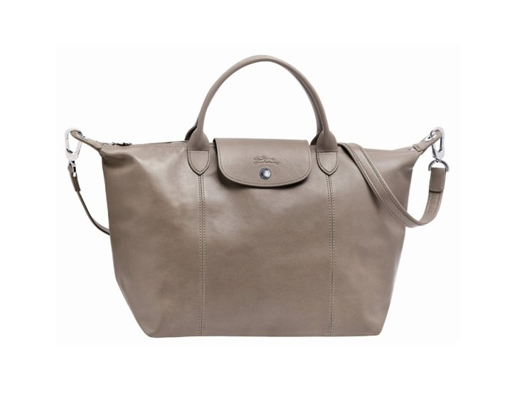 Longchamp小羊皮摺疊包 2013 秋季新色,陶土色。圖/Longcham...