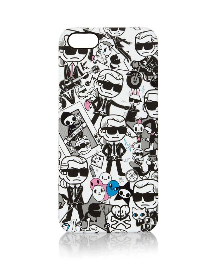 2013 Tokidoki x 卡爾拉格斐 iPhone保護殼。圖/擷取自Net...