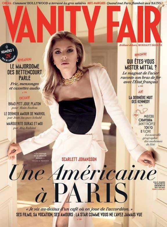 美國雜誌《浮華世界》(Vanity Fair)登陸法國,封面人物由美國女郎史嘉莉...