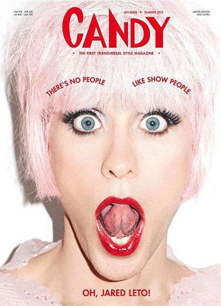 傑瑞德雷托以女裝造型登上《candy》雜誌,誇張的表情和妝髮不但完全變一個人,還...