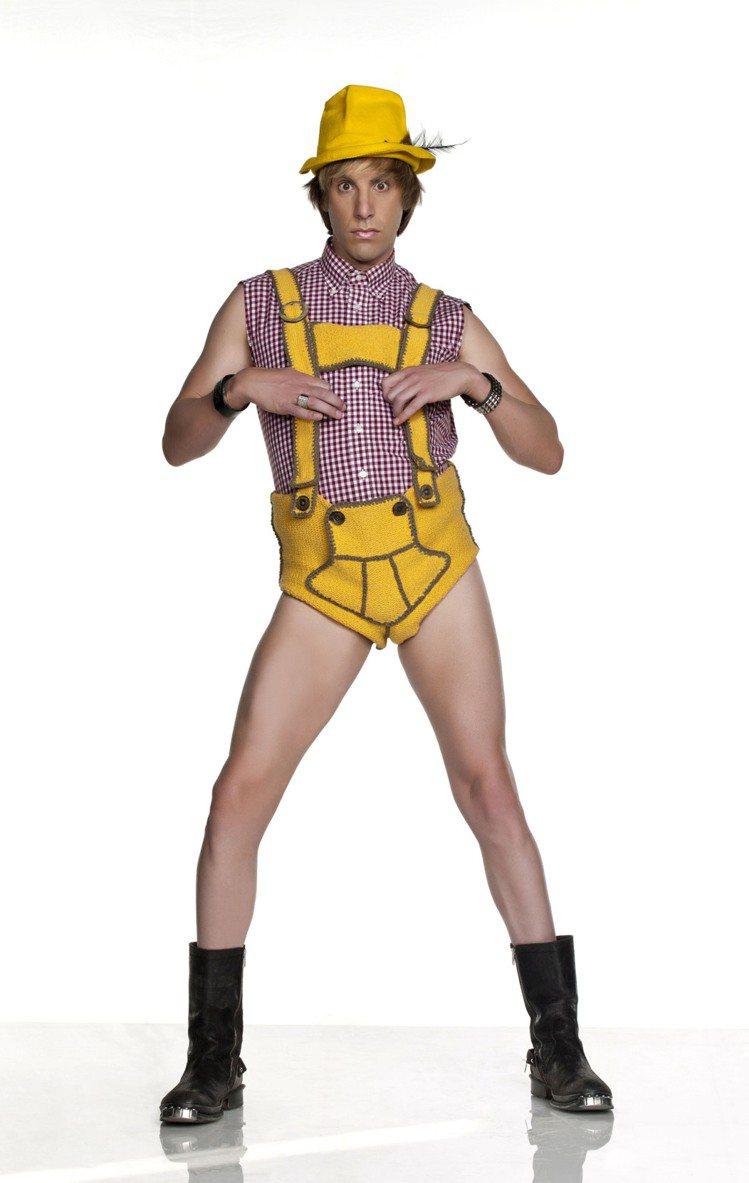 薩夏拜倫柯恩在《G型教主》中的造型。圖/達志影像