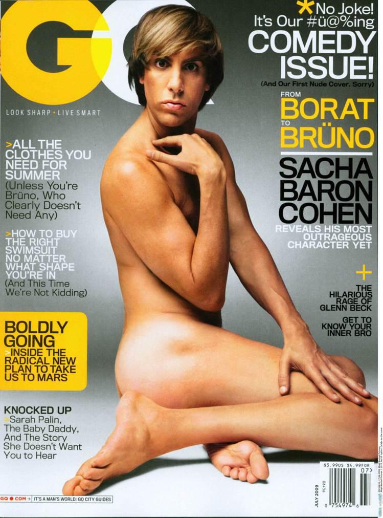 薩夏拜倫柯恩以《G型教主》中的造型登上GQ雜誌封面。圖/達志影像