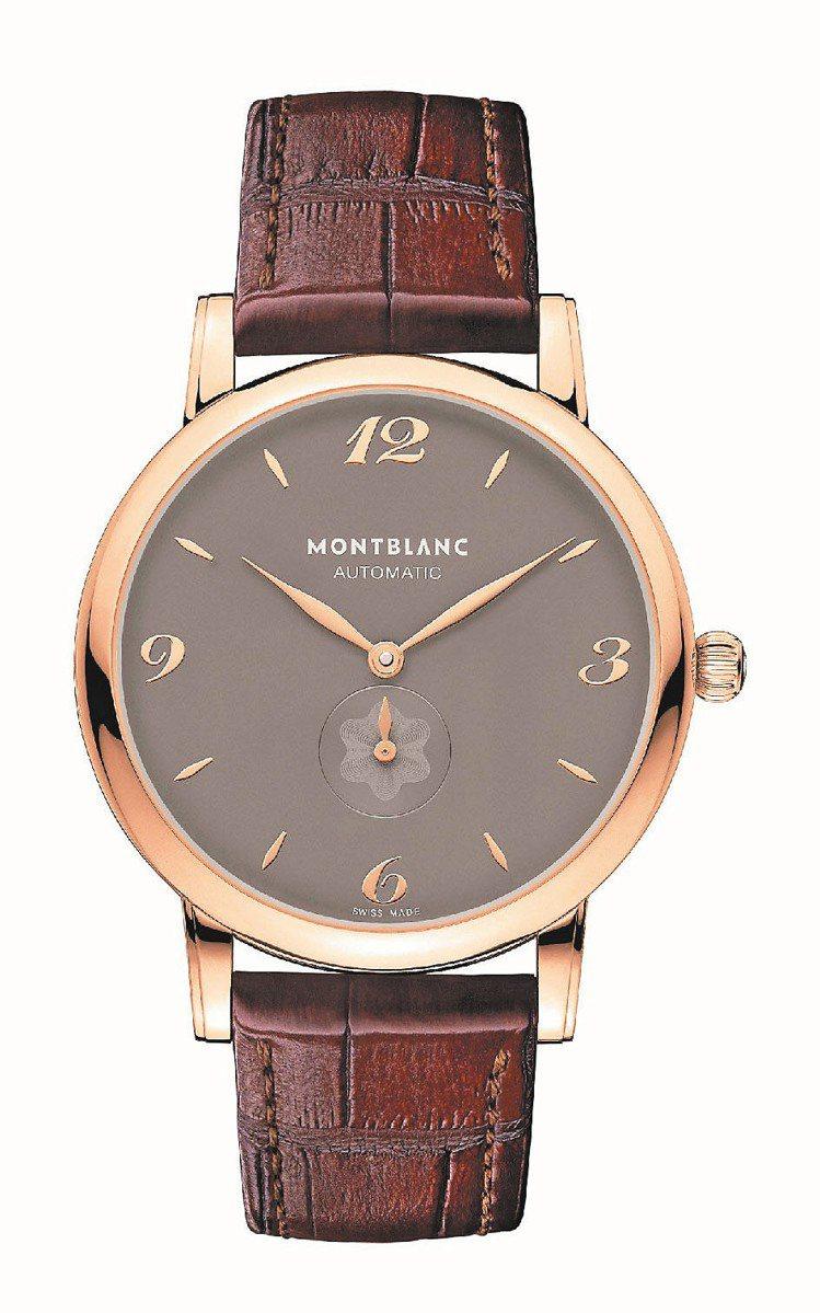 Star Classique系列玫瑰金自動計時腕表,32萬6,900元。圖/萬寶...