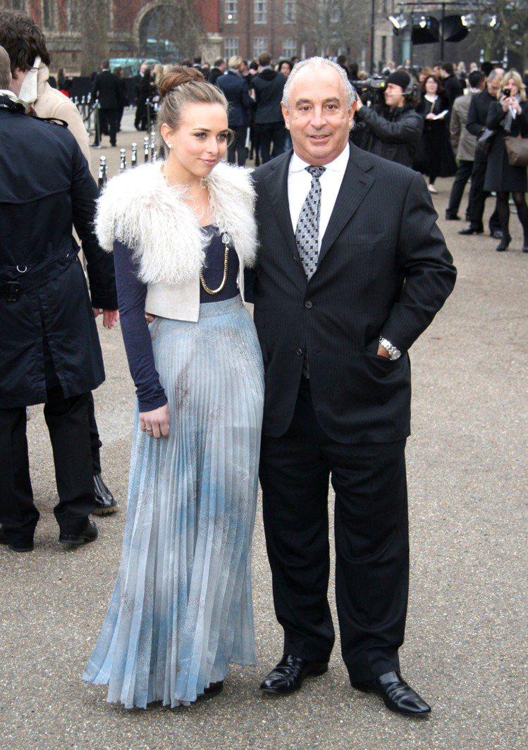 Chloe Green與老爸 Philip Green --英國零售集團 Arc...
