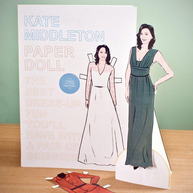 凱特密道頓的精品服裝紙娃娃組合。圖/達志影像