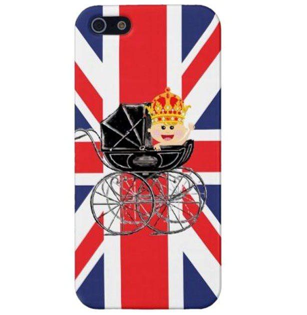 皇室寶寶紀念iPhone殼。圖/擷取自guardian.co.uk