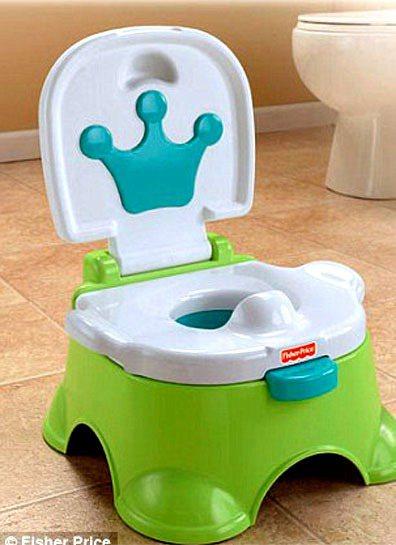 皇室寶寶紀念馬桶。圖/擷取自英國每日郵報