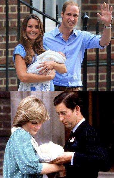 凱特的粉藍色波卡圓點洋裝和1982年剛生下威廉的黛安娜王妃的服裝有著相似的設計。...