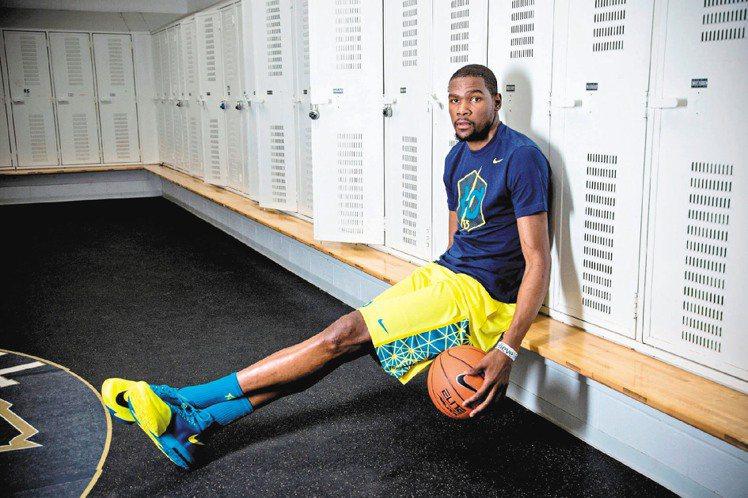 Nike今夏請Kevin Durant來台宣傳KD VI鞋款。圖/Nike提供